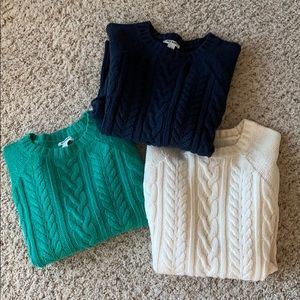 Set of 3 Old Navy Cable Knit Sweaters S